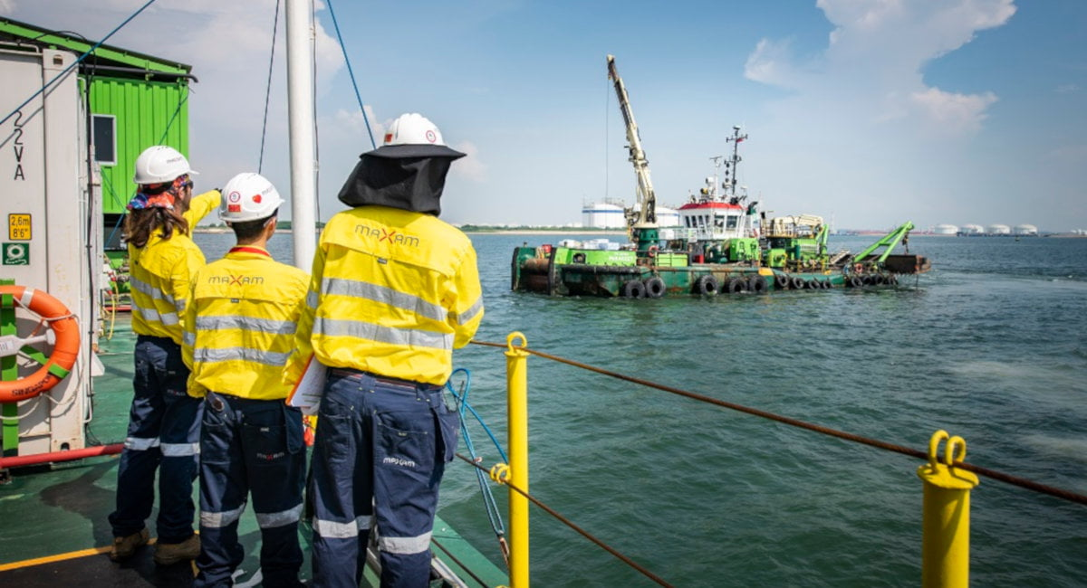 MAXAM successfully completes blasting operation for Singapore Port